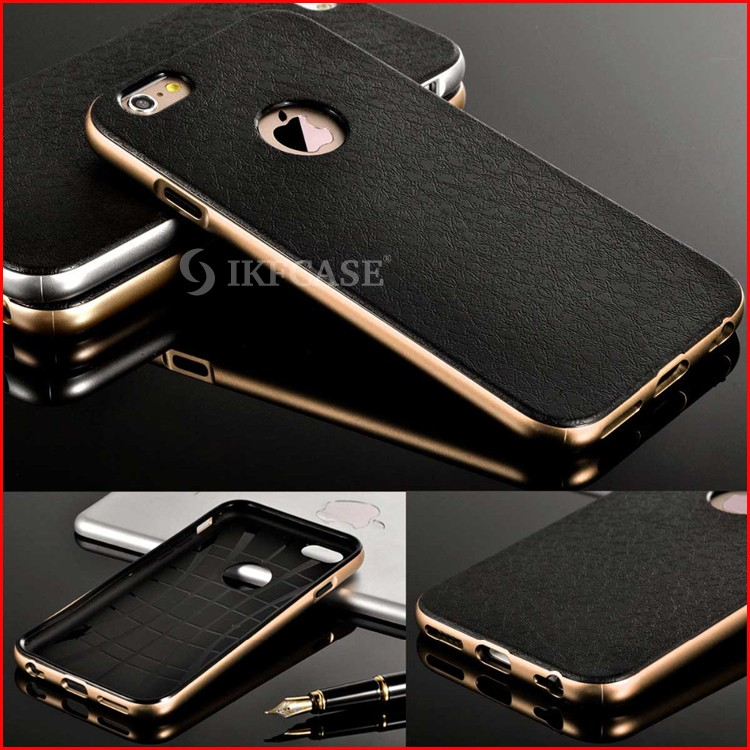 Luxury 2 in 1 PC Plating Chrome Frame + Hard Back Case For iPhone 5 5S SE Plastic + TPU Phone Back Cover
