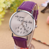 Most popular products genuine leather watch , geneva watches,cheap womenwatch