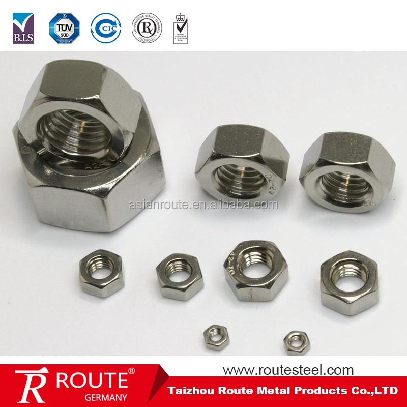 fastener item stainless steel brass black m4 to m38 din934 iso 4032 hex nut