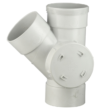 ERA AS/NZS 1260 Watermark Certificated PVC DWV fittings 45 degree side access junction with Left  F*F