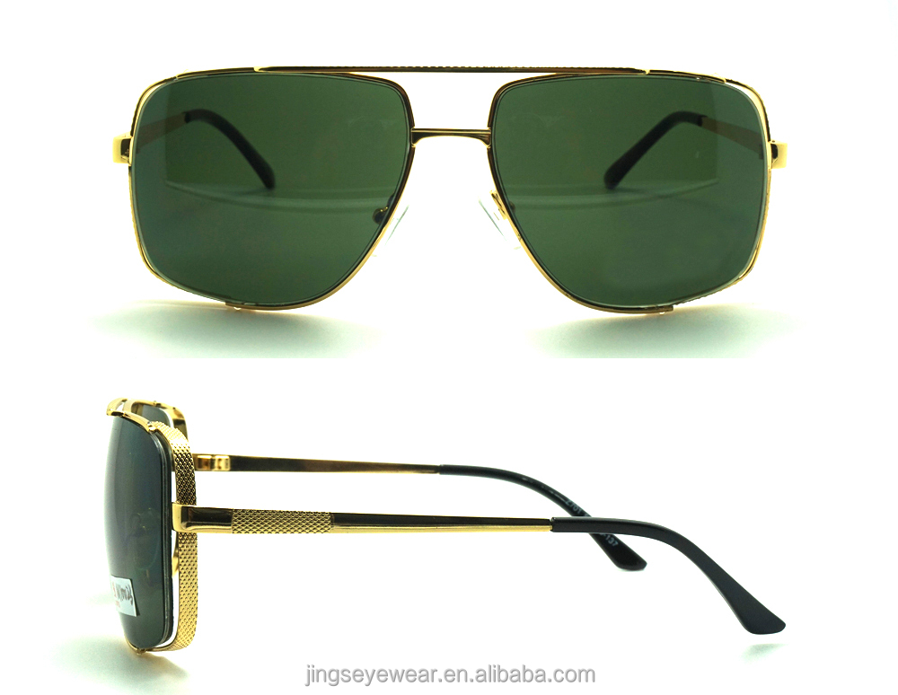 2016 metal square men sunglasses, fashion gafas de sol for hombre