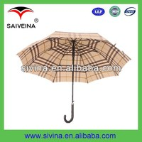 walking stick umbrella with leather handle on cheap price