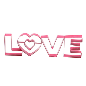 4 pcs Valentine's Day cookie cutter set LOVE biscuit maker