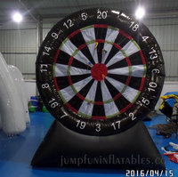 cheap Inflatable Dartboard with hooks & loops fastener Darts,Inflatable sticky dart games