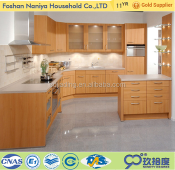 Professional mould designs laminated plywood modern wood kitchen cabinets