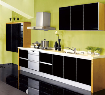 Modular Kitchen Cabinet Color Combinations High Gloss Acrylic Door Designs