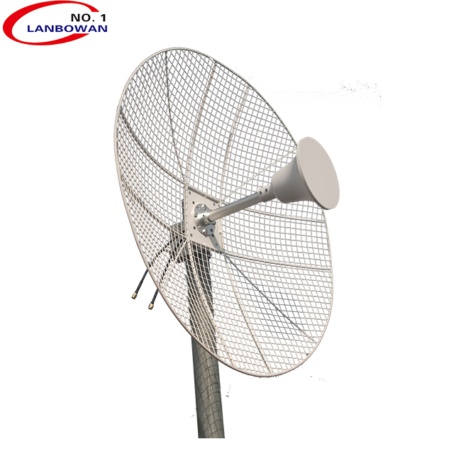 High gain 3.5G outdoor wifi 2x2 mimo grid 60cm dish wimax antenna