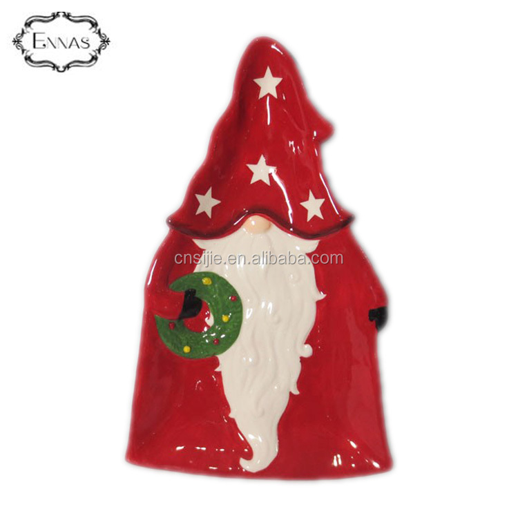 Ceramic Christmas serving dish plates for restaurants dinnerware