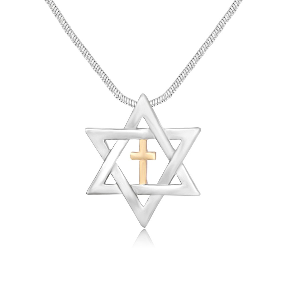 Sterling Silver Girls .8mm Box Chain Small Marcasite Star Of David Pendant Necklace