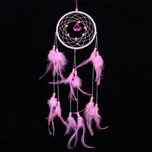 Hot Sale Pretty Style Pure Handmade Dream Catcher Net Feathers Relief Wall Hanging Decoration Ornament