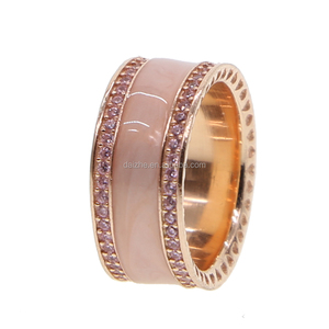 fashion wide band enamel cz paved mens 925 sterling silver rings with big band for women mens jewelry