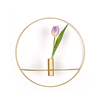 silk-stocking Gold wall ring candlestick large flower arrangement hanging wall candlestick