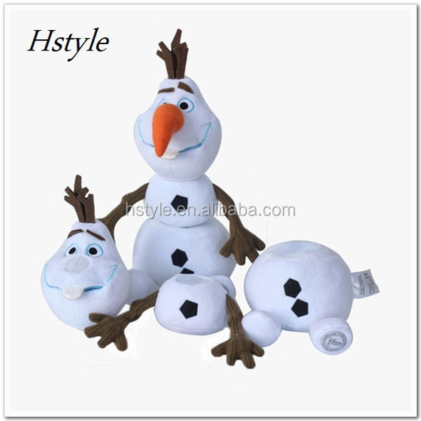 Frozen Toys 25cm Olaf Plush Toys Movie And TV Dolls Soft Stuffed Animals Snowman Olaf Doll Birthday Gift For Children SUD003