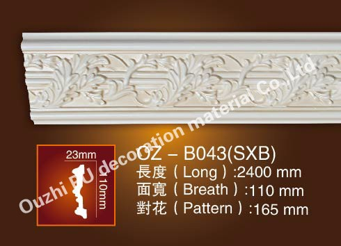 decorative pu wire moulding for home exterior
