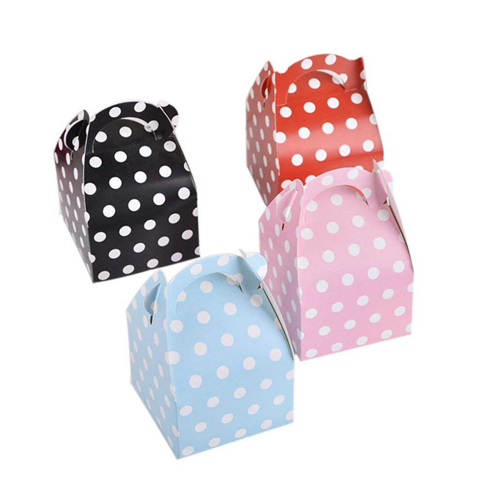 TOYMYTOY Candy Boxes Polka Dot Treat Boxes Gift Box Party Favor Supplies,20Pcs
