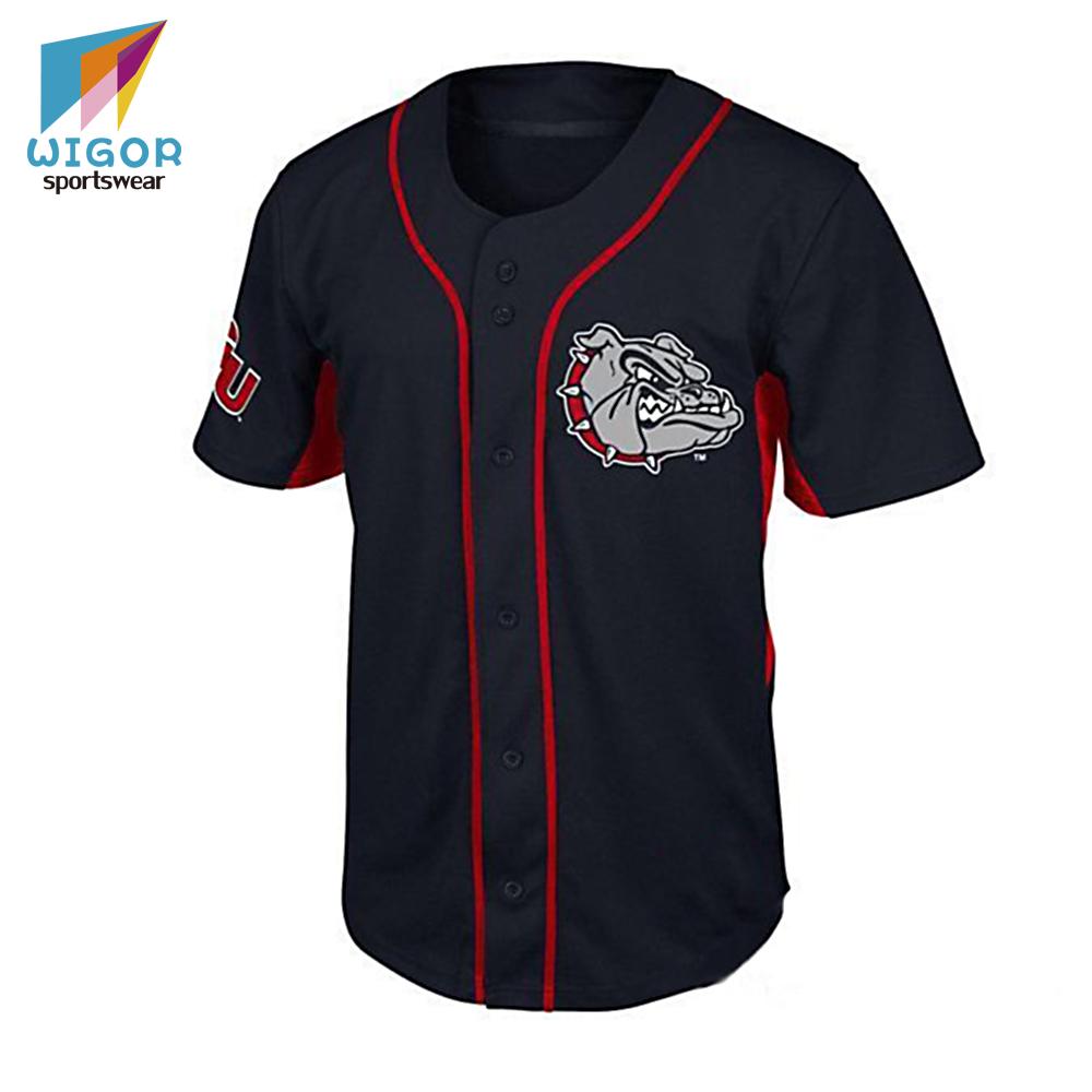 Alibaba.com / Promotional Good Quality Sublimation Printing Custom Plain Baseball Jersey