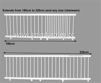 High Quality Pine Wood Extendable Baby Door Barriers