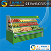 New design supermarket showcase for vegetable display refrigerator and fruit storage (SUNRRY SY-SVS2000W)