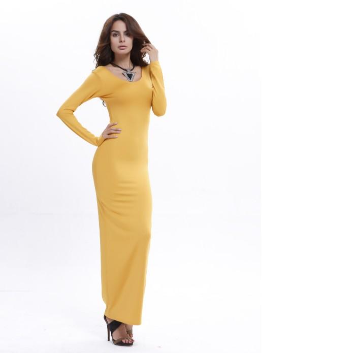 Long sleeve bodycon dress,bodycon party dress,maxi bodycon dress фото