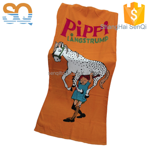 Personalised Cheap 100% Cotton Cut pile print quick dry custom top quality cotton beach towel
