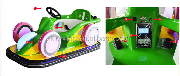 Outdoor Playground Electric Kids Rides on Toy car Battery Drift Racing Car for Kids