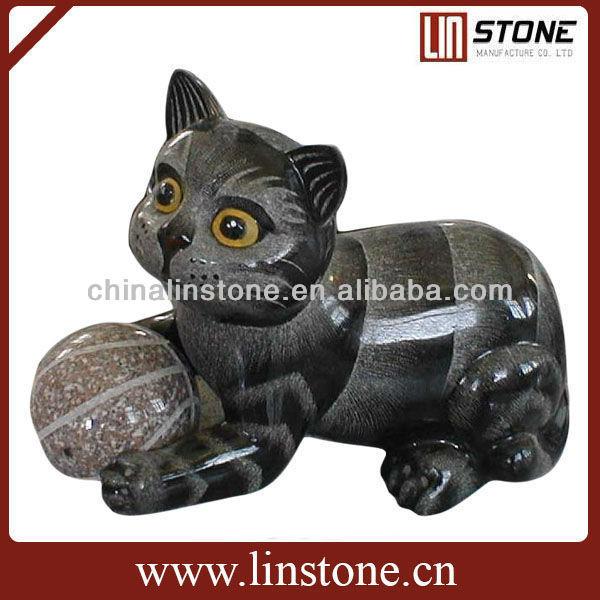 Black Garden Cat Statue
