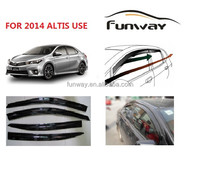 2014 Toyota Corolla Altis Door Visor Wind Deflector Weather ...