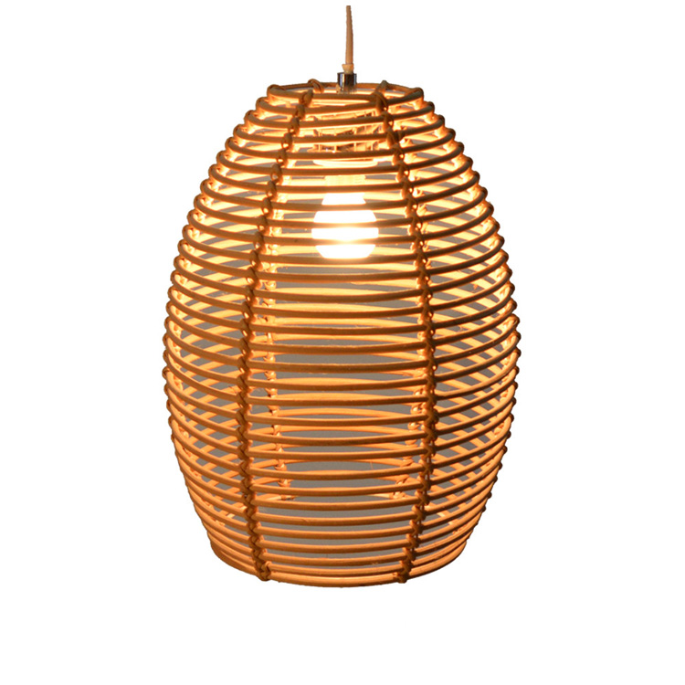 Europese antieke rieten cilinder opknoping licht cover handgemaakte lampenkap