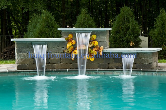 Swimming Pool Fountain Nozzle Decorative Indoor Water Wall Fountains Waterfall Water Curtain