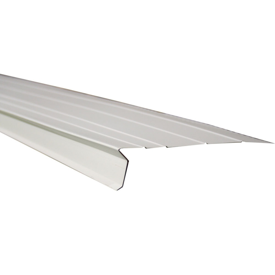 HOT Flashing in White Aluminum Drip Edge Roofing Board