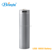 continuance rechargeable usb aw 18650 li-ion batteries
