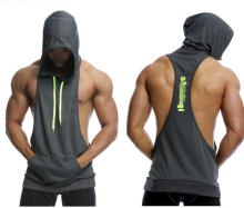 Custom gym tank top tank top with hood stringer tank top men singlet