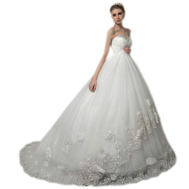 f872f81d157 Get Quotations · Aurora Bridal 2018 Women Sweetheart Empire Beach Wedding  Dress Bead Pregnant Bridal Gown 00476