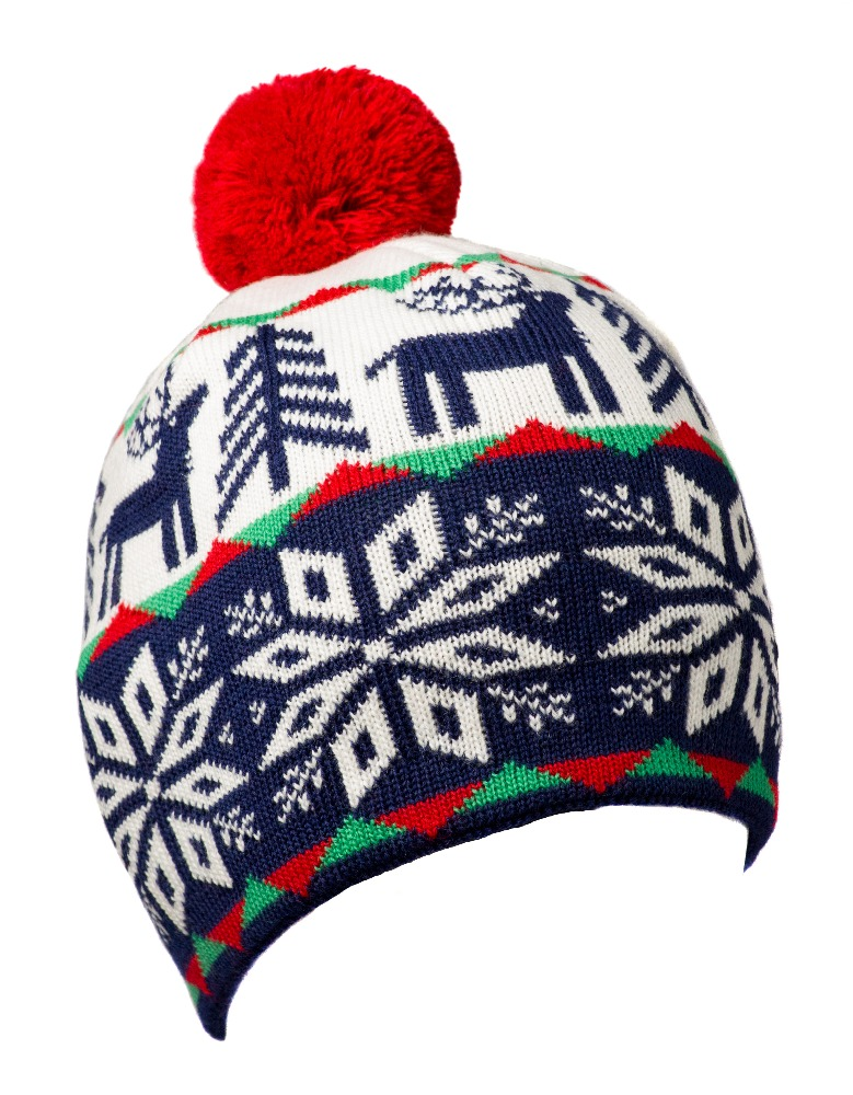 Christmas Holiday Lovely Hats Cheap Soft Snow Jacquard Slouch Winter running Beanie