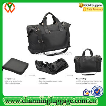 f5fa6aa2f748 Oversized Leather Trim Travel Duffel Handbag Folding Leatherette Weekend  Bag - Buy Folding Leather Travel Bag,Folding Leatherette Travel Bag,Folding  ...