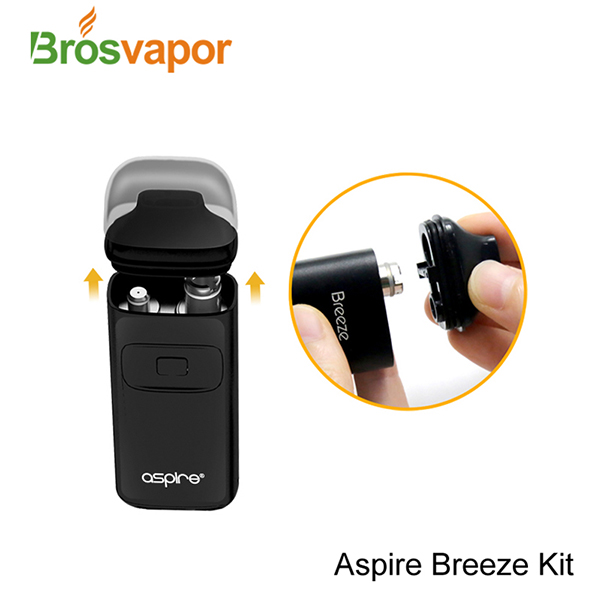 New Products 2017 Innovative Product Smoke Electronic Starter Kit Aspire Breeze Kit With 2ml Tank Capacity