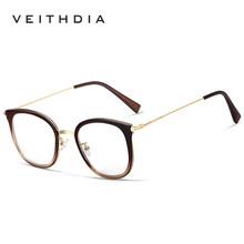 Винтажная оправа для очков VEITHDIA, модная оптическая оправа с прозрачными стеклами, для мужчин и женщин, модель 1232, 2020(Китай)