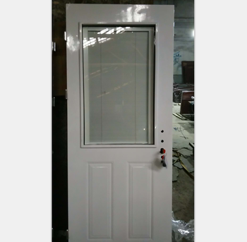 Soundproof Steel Security Door Double Glazing Glass Doors With Built