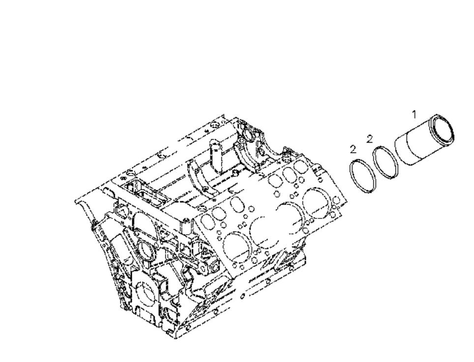 Deutz Diesel Engine Parts Bfm1015 Cylinder Liner 0422 7079