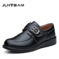 2016 New Children Leather Shoes For Boys Dress Shoes Black Flat Dancing Lace Up PU Genuine