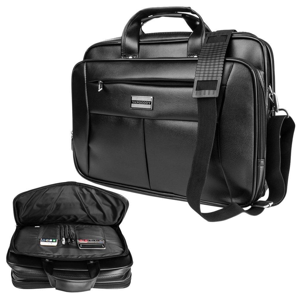 "Vangoddy Barrow Black 15.6 Inch Laptop Shoulder Bag Briefcase for Asus VivoBook / EeeBook / Spin 7 / ROG / Transformer Book Flip / ZenBook Series 14"" 15.6"" Laptop"