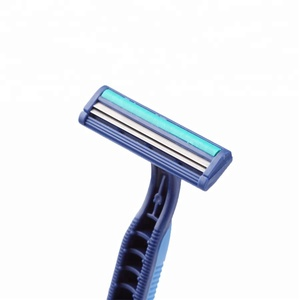 Blue and Pink color Fixed Head Twin Blade One Time Razor