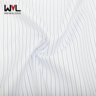 high quality China manufacture men shirt fabric 100% cotton twill stripe cotton yarn dyed fabric