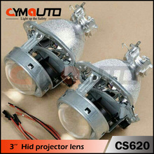 CYMAUTO 3 inch D2S hid bi-xenon projector lens light with 35W D2H xenon hid bulb