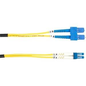 """Black Box Single. Mode Value Line Patch Cable, Sc. Lc, 3. M (9.8. Ft.) . Fiber Optic For Network Device . 9.84 Ft . 2 X Sc Male Network . 2 X Lc Male Network . Yellow """"Product Type: Hardware Connectivity/Connector Cables"""""""