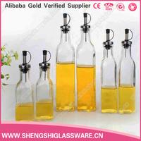500ml 750ml oil bottle non drip spout glass olive oil dispenser