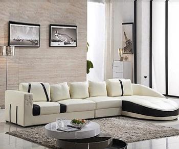 Besar Ruang Tamu Sudut Sofa Furniture Desain Dengan Bantal