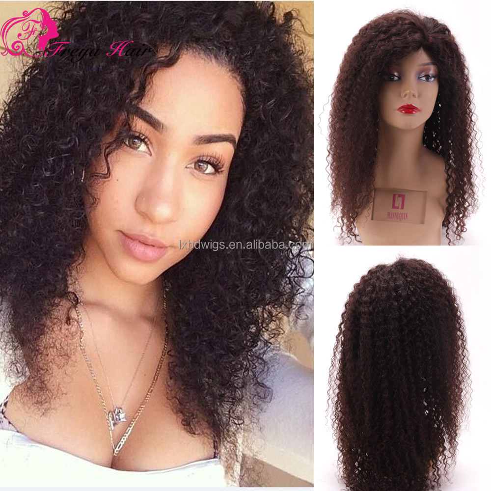 Natural Color Virgin Brazilian Curly Hair Wig