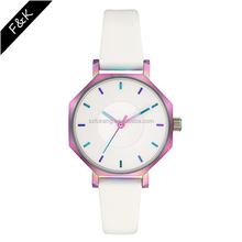 Fashion wrist watch thin leather band watches OEM production