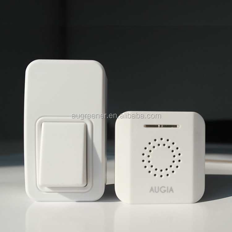 USB Kinetic Wireless Doorbell USB commercial office door bell with battery free button